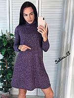 Стильне жіноче плаття, S/M/L, колір ліловий, фото 1