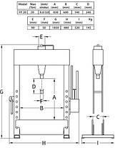 Пресс гидравлический 20т c ножным пневмоприводом, Compac, FP20 , фото 3