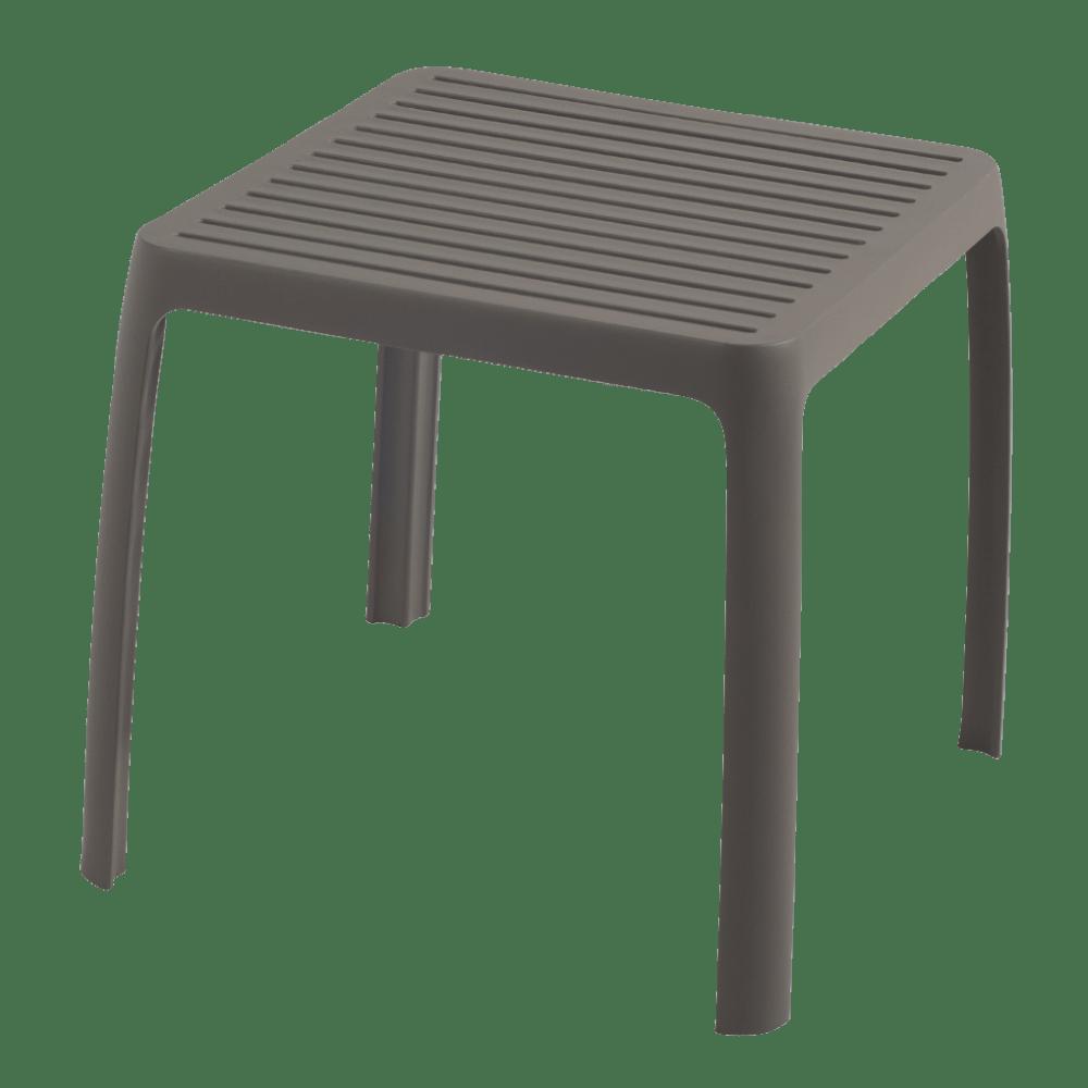 Столик для шезлонга Papatya Wave серо-коричневый
