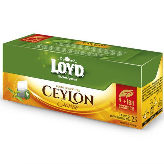 Чай чорний LOYD Ceylon в пакетиках, 50г (25пак.), 16шт/уп 3100017
