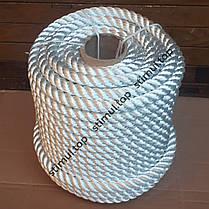 Канат полиамидный 40 мм (моток 25 метров) / Крученая веревка / Мотузка поліамідна кручена, фото 2