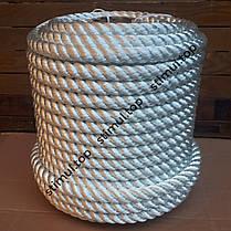Канат полиамидный 40 мм (моток 25 метров) / Крученая веревка / Мотузка поліамідна кручена, фото 3