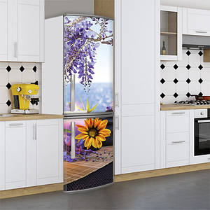 Наклейки для холодильника, весна на море, 180х60 см - Лицевая(В), с ламинацией