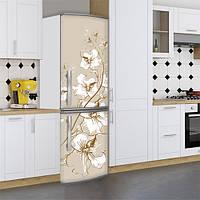 Наклейки на холодильник, цветущий цветок, 180х60 см - Лицевая(В), с ламинацией
