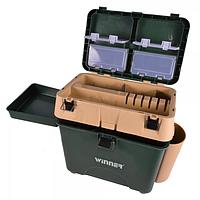 Ящик для зимней рыбалки Winner с накладными карманами