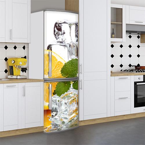 Виниловая наклейка на холодильник, Наклейки холодильник, Самоклейка, 180 х 60 см, Лицевая (holSS1_df13331 Разное)
