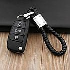 Брелок Mazda для автомобильных ключей Эко кожа косичка, фото 3