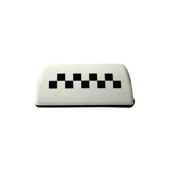 Фишка такси на магните белая с подсветкой