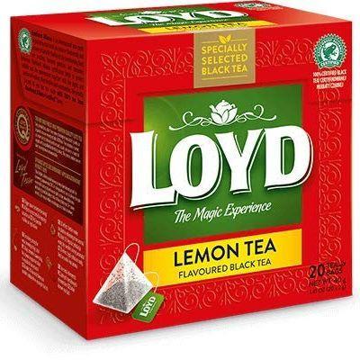 Чай чорний LOYD Black lemon tea зі смаком лимона, 34г (20пак.), 20 шт/уп 3102379