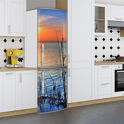 Виниловая наклейка на холодильник, Наклейки для холодильника, Самоклейка, 180 х 60 см, Лицевая (holSS1_pr12185 Природа)