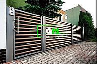 Распашные ворота с зашивкой жалюзи 1,5х4 м ТМ ГЛОБАЛ МЕТИЗ