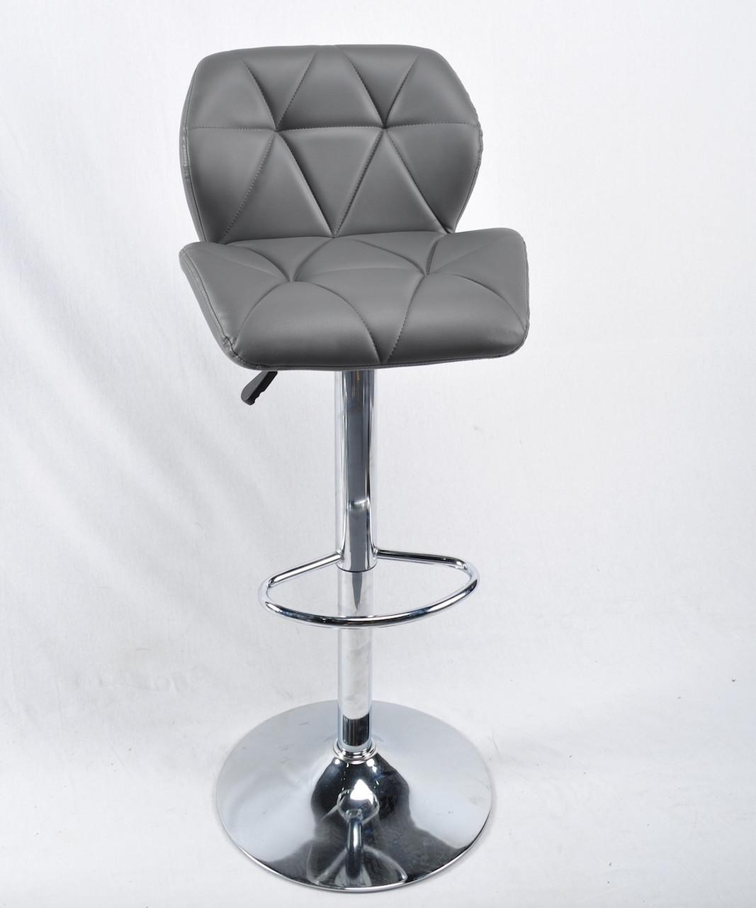 Барный стул SET Сэт темно-серая экокожа, стул визажиста