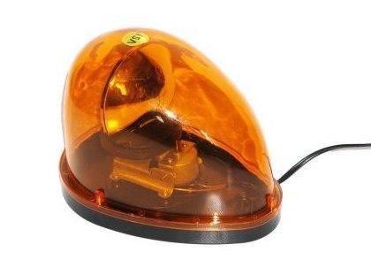 Мигалка-сирена автомобильная, капля, оранжевая 24V