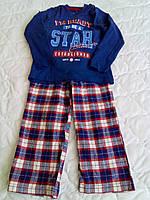 Пижама: футболка и штанишки в клеточку ТМ Lupilu (5 лет)