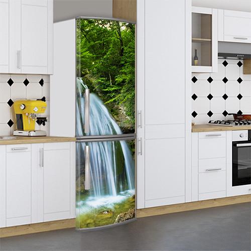 Виниловая наклейка на холодильник, Украсить холодильник своими руками, Самоклейка, 180 х 60 см, Лицевая (holSS1_wf00202 Природа)