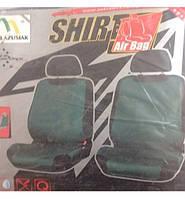 Майка сидения передняя зеленая (2шт) MILEX SHIRT с карманом сзади