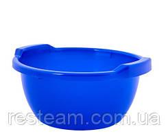 Таз пластм. 44 л круглый синий