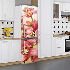 Наклейки для холодильника, орхидеи розовые, 180х60 см - Лицевая(В), с ламинацией
