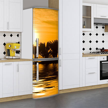 Виниловая наклейка на холодильник, Пленка на холодильник фото, Самоклейка, 180 х 60 см, Лицевая (holSS1_pr12674 Природа), фото 2