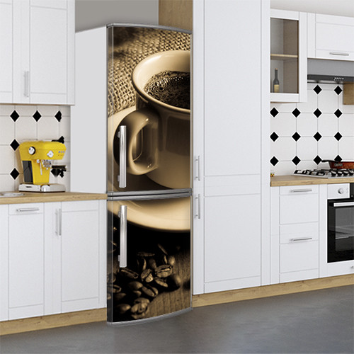 Виниловая наклейка на холодильник, Виниловую пленку на холодильник, Самоклейка, 180 х 60 см, Лицевая (holSS1_ed10310 Хиты)