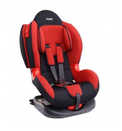 Детское автокресло 1-7 лет,9-25 кг Siger Кокон Isofix, Красный