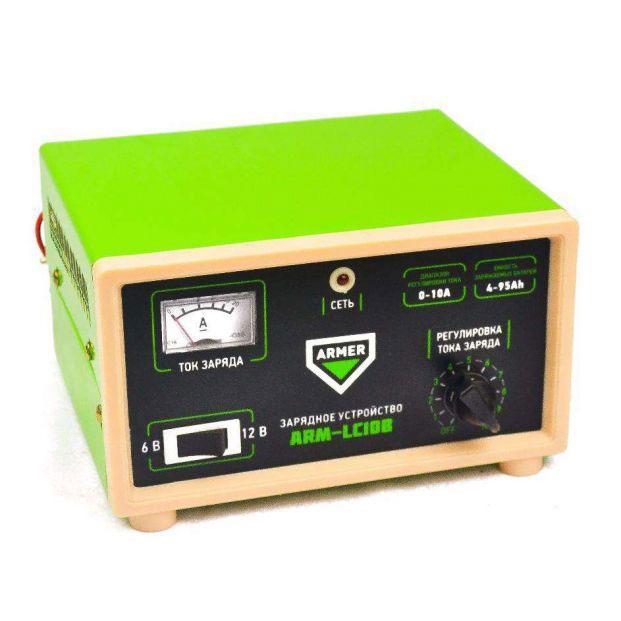 Зарядное устройство автомобильного аккумулятора 10А - 6-12V ARMER ARM-LC10B