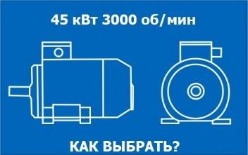 Электродвигатель 45кВт 3000 об/мин