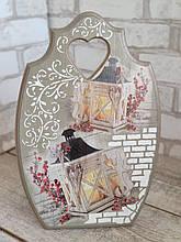 Доска кухонна, одна сторона робоча, декоративна, дерев'яна, выс.33-35 см, 250 грн.