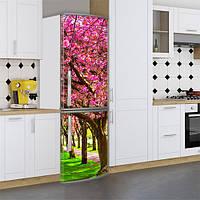 Наклейки для холодильника, цветущий сад, 180х60 см - Лицевая(В), с ламинацией