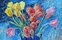 Картина цветы «Тюльпаны» (купить картину для дома, декорирование дома)