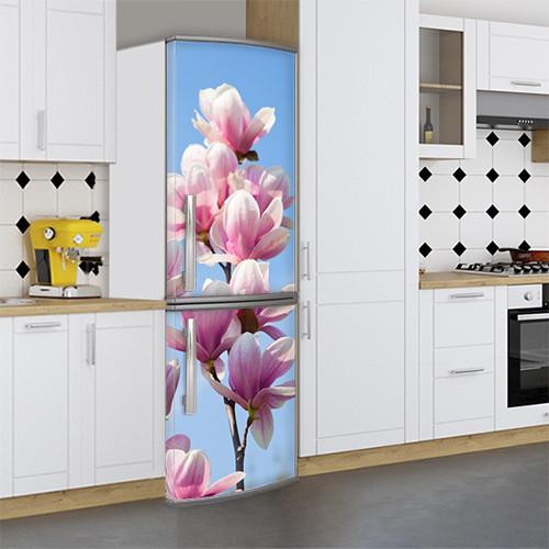 Виниловая наклейка на холодильник, Самоклейка, 180 х 60 см, Лицевая (holSS1_fl102697 Цветы)