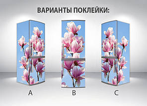 Виниловая наклейка на холодильник, Самоклейка, 180 х 60 см, Лицевая (holSS1_fl102697 Цветы), фото 2