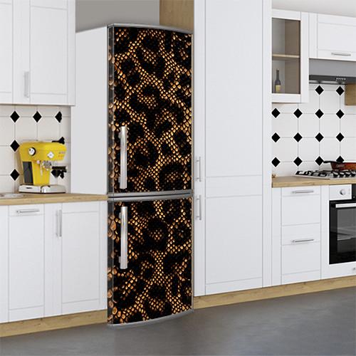 Виниловая наклейка на холодильник, Защитная пленка на холодильник, Самоклейка, 180 х 60 см, Лицевая (holSS1_ts11609 Разное)