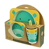 Набор детской бамбуковой посуды Слон (уценка)