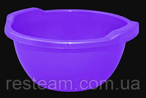 Таз пластм. 44 л круглый фиолет