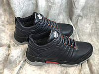 Зимние ботинки с натуральной кожи 1122 син размеры 40,41,42,43,45, фото 1