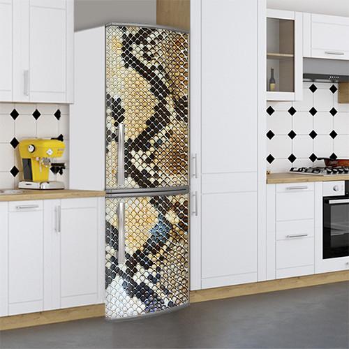 Виниловая наклейка на холодильник, Декор холодильника своими руками фото, Самоклейка, 180 х 60 см, Лицевая (holSS1_ts10704 Разное)
