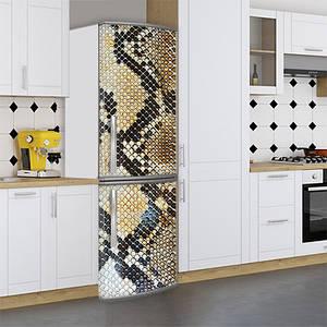 Наклейки на холодильник, шкіра пітона, 180х60 см - Лицьова (В), з ламінуванням