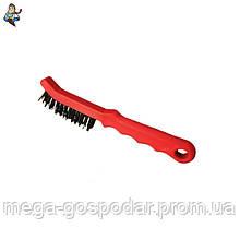 Щетка проволочная ручная 2-рядная с пластиковой ручкой 220мм