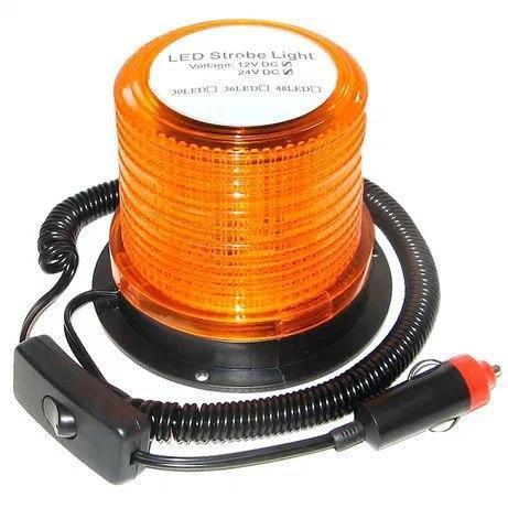 Мигалка-Страбоскоп диодная 24v оранжевая 801F