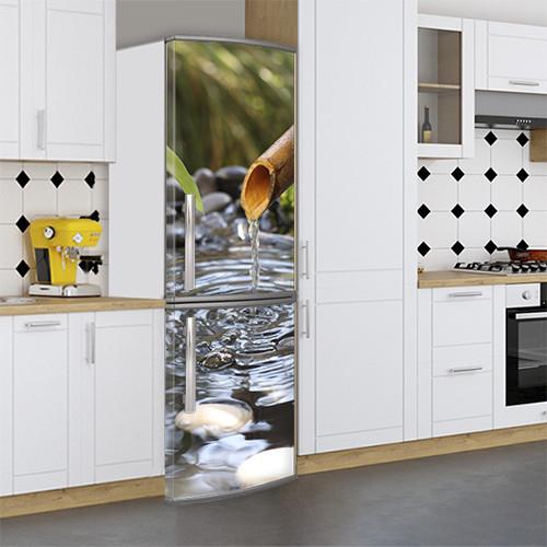 Виниловая наклейка на холодильник, Перекрасить холодильник, Самоклейка, 180 х 60 см, Лицевая (holSS1_pr12424 Природа)
