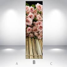 Виниловая наклейка на холодильник, Наклейки холодильник, Самоклейка, 180 х 60 см, Лицевая (holSS1_fl101707 Цветы), фото 3