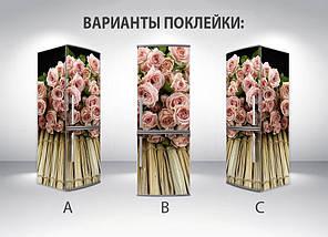 Виниловая наклейка на холодильник, Наклейки холодильник, Самоклейка, 180 х 60 см, Лицевая (holSS1_fl101707 Цветы), фото 2