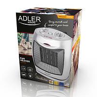 Керамический тепловентилятор Adler AD 7703 напольный, бытовой мощность 750-1500вт