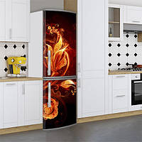 Виниловая наклейка на холодильник, Винил на холодильник, Самоклейка, 180 х 60 см, Лицевая (holSS1_fl102093 Цветы)