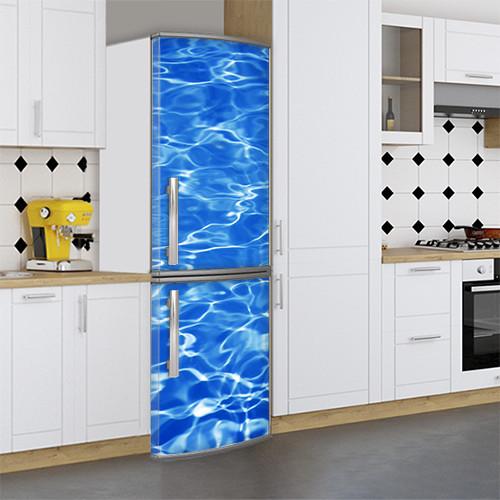 Виниловая наклейка на холодильник, Прикольные картинки на холодильник, Самоклейка, 180 х 60 см, Лицевая (holSS1_wt10342 Море)