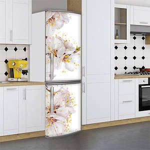 Наклейка на холодильник, цветущая вишня, 180х60 см - Лицевая(В), с ламинацией