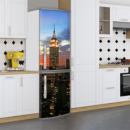Наклейка на холодильник с рисунками, Самоклейка, 180 х 60 см, Лицевая (holSS1_cn00237 Город)