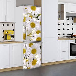 Наклейки на холодильник, цветы, ромашки, 180х60 см - Лицевая(В), с ламинацией