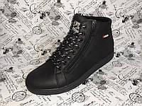 LEVI'S BATICH кожаные мужские ботинки на змейках ( цвет черный мустанг )